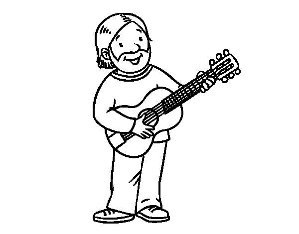 Coloriage de Chanteur-compositeur pour Colorier