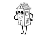 <span class='hidden-xs'>Coloriage de </span>Charmante maison à colorier