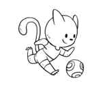Dibujo de Chat Football