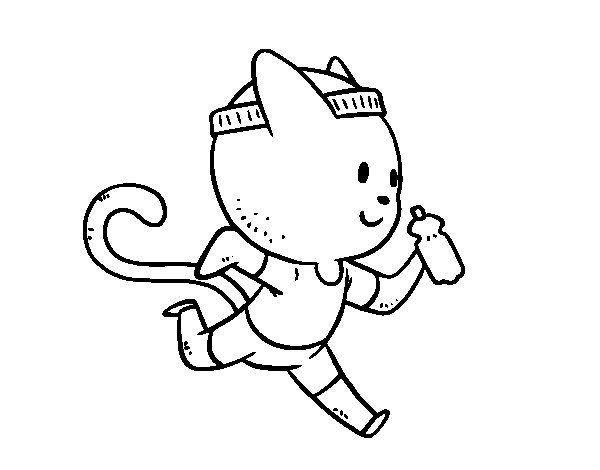 Coloriage de Chat runner pour Colorier