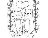 <span class='hidden-xs'>Coloriage de </span>Chatons amoureux à colorier