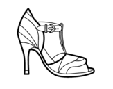 <span class='hidden-xs'>Coloriage de </span>Chaussure à talon avec pointe découverte à colorier