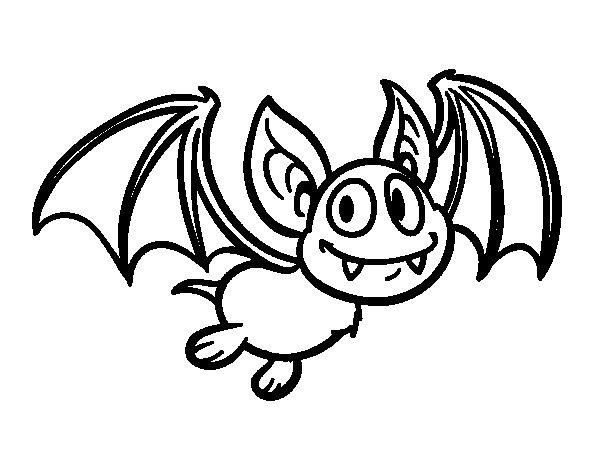 Coloriage de Chauve souris - vampire pour Colorier