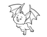 <span class='hidden-xs'>Coloriage de </span>Chauve-souris sympathique à colorier
