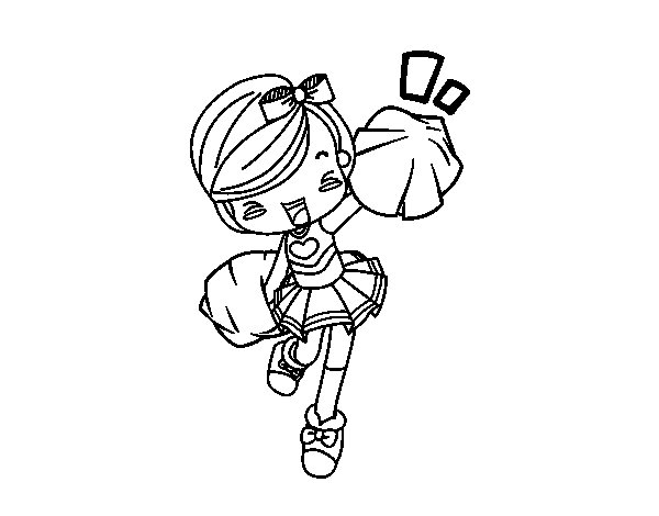 Coloriage de Cheerleader pour Colorier