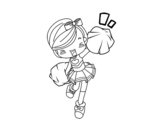 <span class='hidden-xs'>Coloriage de </span>Cheerleader à colorier