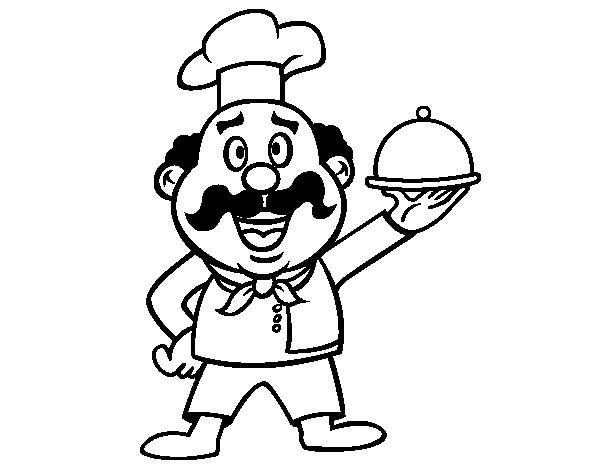 Coloriage de Chef italien  pour Colorier
