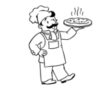 <span class='hidden-xs'>Coloriage de </span>Chef italien à colorier