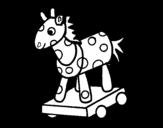 <span class='hidden-xs'>Coloriage de </span>Cheval de bois à colorier
