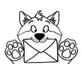 <span class='hidden-xs'>Coloriage de </span>Chien avec la lettre à colorier