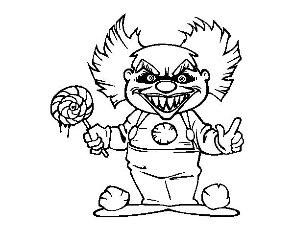 Coloriage de clown diabolique pour colorier - Photo de clown a imprimer ...