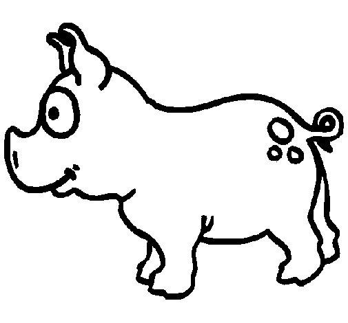 Coloriage de Cochon pour Colorier