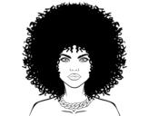 <span class='hidden-xs'>Coloriage de </span>Coiffure afro à colorier