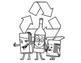 <span class='hidden-xs'>Coloriage de </span>Contenants de recyclage à colorier