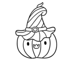 <span class='hidden-xs'>Coloriage de </span>Courgettes pour Halloween à colorier