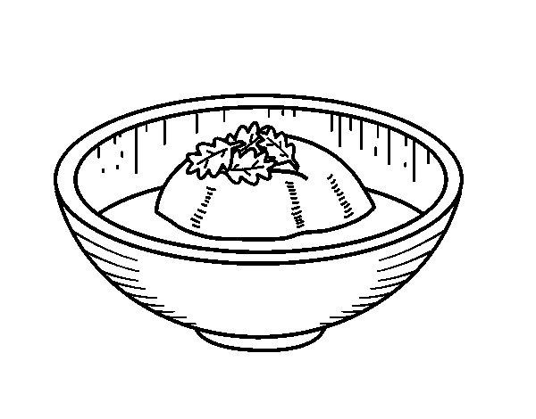 Coloriage de Crème glacée au thé pour Colorier