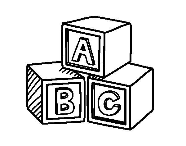 Coloriage de Cubes éducatifs pour Colorier