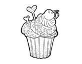 <span class='hidden-xs'>Coloriage de </span>Cupcake délicieux à colorier