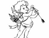 <span class='hidden-xs'>Coloriage de </span>Cupidon à colorier