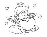 Dibujo de Cupidon avec le coeur
