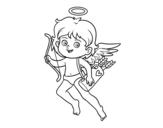 Dibujo de Cupidon avec son arc magique