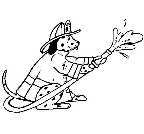Coloriage de Dalamtien pompier pour Colorier
