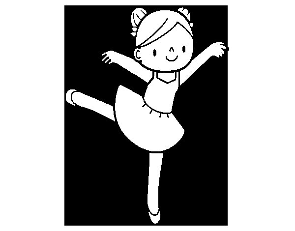 Coloriage de Danseur de ballet pour Colorier