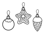 <span class='hidden-xs'>Coloriage de </span>Décoration à accrocher de Noël à colorier
