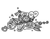 <span class='hidden-xs'>Coloriage de </span> Décoration de mariage à colorier