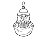 <span class='hidden-xs'>Coloriage de </span>Décoration de Noël Santa Claus à colorier
