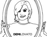 <span class='hidden-xs'>Coloriage de </span>Demi Lovato Popstar à colorier
