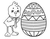 <span class='hidden-xs'>Coloriage de </span>Dessin de Pâques à colorier