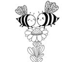 Dibujo de Deux abeilles
