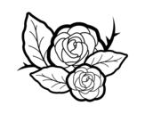 <span class='hidden-xs'>Coloriage de </span>Deux roses à colorier