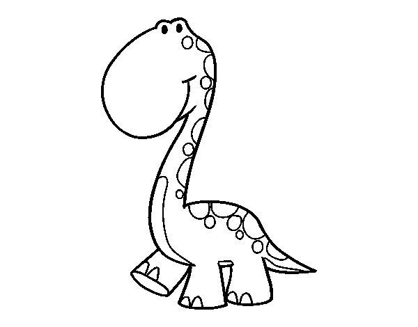 Coloriage de Dino pour Colorier