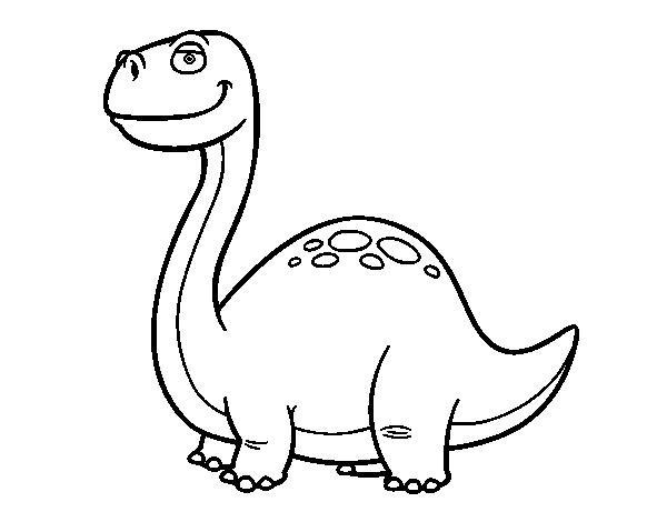 Coloriage de dinosaure diplodocus pour colorier - Coloriage diplodocus ...