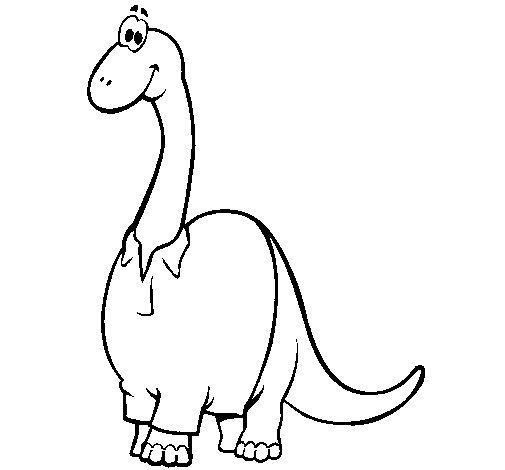 Coloriage de Diplodocus à chemise pour Colorier