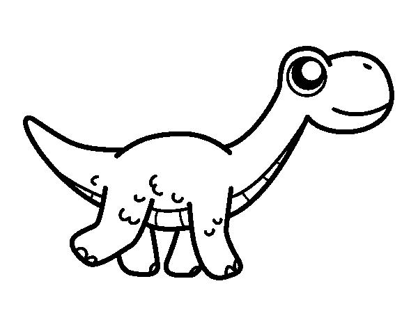 Coloriage de diplodocus heureuse pour colorier - Coloriage diplodocus ...