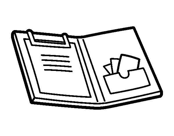 Dibujo Para Colorear Libreta: Coloriage De Dossier Avec Couvercle Pour Colorier
