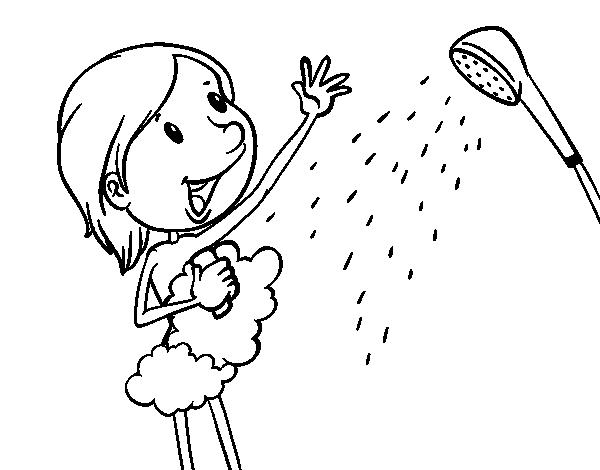 Coloriage de douche pour colorier - Douche coloriage ...