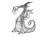 <span class='hidden-xs'>Coloriage de </span>Dragon avec la fumée à colorier