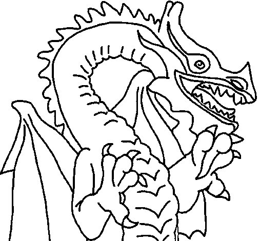 coloriage de dragon style japonais pour colorier. Black Bedroom Furniture Sets. Home Design Ideas