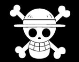 <span class='hidden-xs'>Coloriage de </span>Drapeau de chapeau de paille à colorier