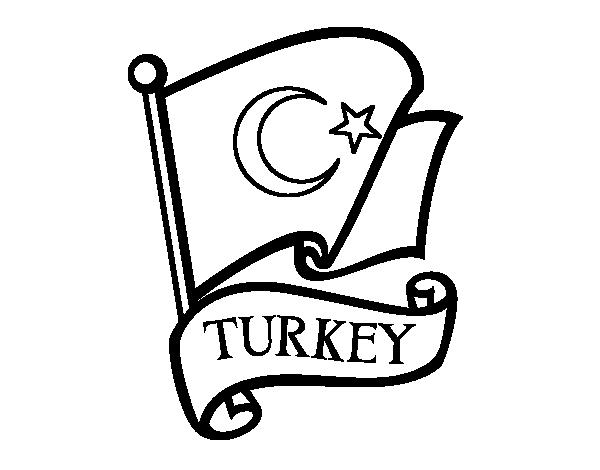 Coloriage de drapeau de turquie pour colorier - Coloriage drapeau espagnol ...
