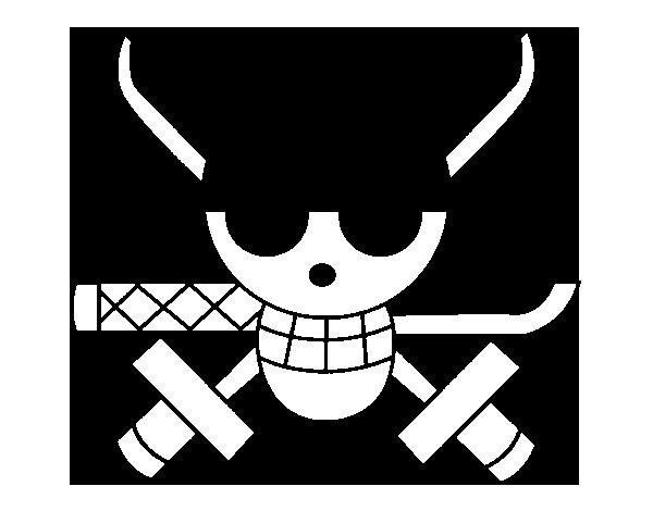 Coloriage de drapeau de zoro pour colorier - Zoro one piece dessin ...