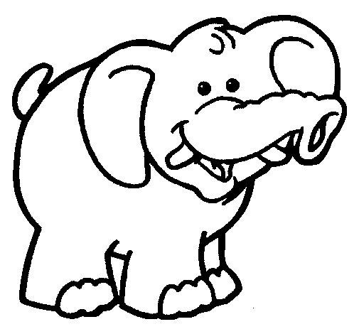 Coloriage de Éléphant 6 pour Colorier