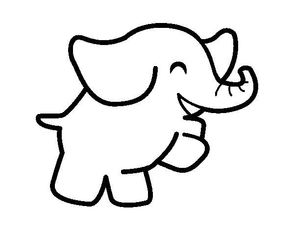 Coloriage de Éléphant danseur pour Colorier