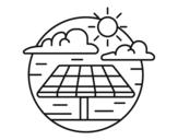 <span class='hidden-xs'>Coloriage de </span>Énergie solaire à colorier