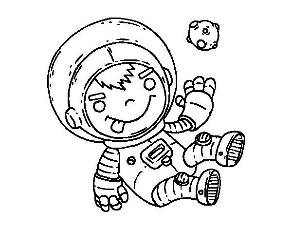 Coloriage de enfant astronaute pour colorier - Dessin d astronaute ...