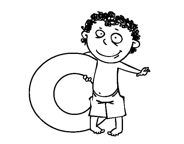 Coloriage de enfant avec bou e pour colorier - Dessin de maillot de bain ...
